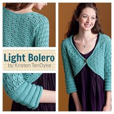 Who's thinking of Spring?!? #knitters are! http://ift.tt/1SnWz3c This is the Light Bolero from #FinishFreeKnits. Available for individual sale from #interweave.