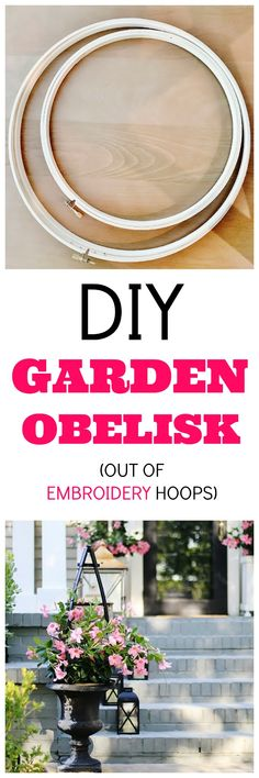 Here are simple instructions on how to make an obelisk. Your flower pots will look like they stepped right out of an English garden. Diy Wood Projects, Outdoor Projects, Diy Projects To Try, Garden Projects, Garden Crafts, Garden Urns, Garden Planters, Garden Trellis, Porch Decorating