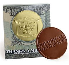 Large Chocolate Coin w/Themed Sleeve Custom Chocolate, Personalized Chocolate, Personalized Items, Chocolate Shapes, Chocolate Coins, Chocolate Favors, Chocolate Gifts, Candies, Chocolates