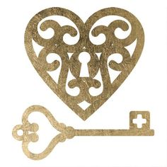 """Your love isn't easy to get and now you can keep it under lock and key with this beautiful gold tattoo design. Sheet Size: 3"""" x 3"""" - Lasts 5-7 days even with swimming and bathing! - Easy to put on and"""
