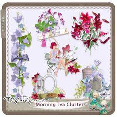 Morning Tea Clusters (PU by Yours&Mine Digital Scrapbooking, Kit, Learning, Artist, Studio, Design, Study, Studios