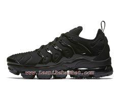 d656bd1b319 Running Nike Air VaporMax Plus Triple Black 924453 004 Chaussures Nike tn  2018 Pour Homme Nike Air