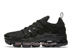 wholesale dealer 7e1af 72ab1 Running Nike Air VaporMax Plus Triple Black 924453 004 Chaussures Nike tn  2018 Pour Homme Nike Air