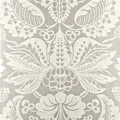 BW45017.1 Perandor Damask Ivory/Silver by G P & J Baker