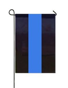 FlagCenter - Thin Blue Line 12 x 18 Inch Garden Flag with Basic Garden Stand by FlagCenter. $26.95. Made to Order. PROUDLY SEWN IN OUR OWN SHOP IN MEMPHIS TN.. Made in America, Honoring Those Who Protect and Serve