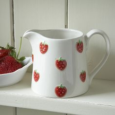 Ceramic Strawberry Jug - Small Already have some of this Strawberry fields set, love it Strawberry Patch, Strawberry Fields, Strawberry Shortcake, Strawberry Summer, Strawberry Hill, Ceramic Pottery, Pottery Art, Ceramic Art, Strawberry Kitchen
