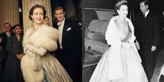 Photos of Royals' Outfits Recreated on The Crown