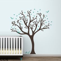 LittleLion Studio Trees Tweet Wall Decal You'll Love | Wayfair