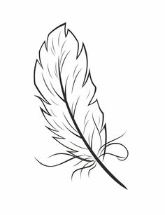 Printable Coloring Pages For Kids Eagle Bird Feather Coloring Sheet Feather Drawing, Feather Tattoo Design, Feather Art, Feather Tattoos, Arrow Tattoos, Tatoos, Printable Coloring Pages, Coloring Pages For Kids, Coloring Sheets