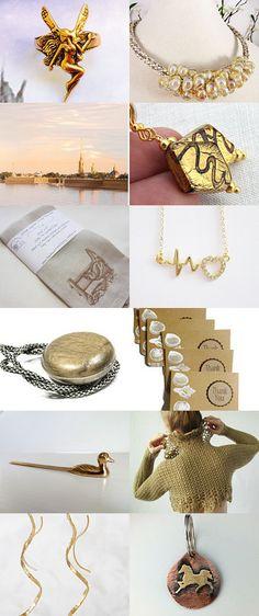 Gold treasury by Sera on Etsy--Pinned with TreasuryPin.com
