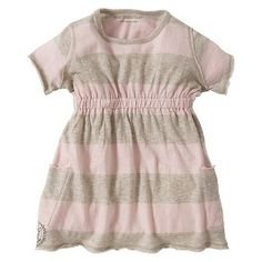 Burt's Bees Baby Organic Rugby Stripe Empire Waist Dress + Diaper Cover Set