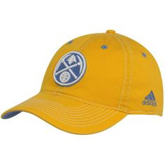 752828361d5 NBA adidas Denver Nuggets Gold Basic Logo Flex Slouch Hat