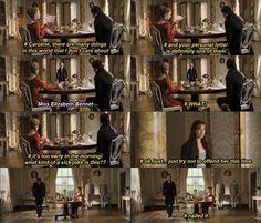 Mr. Darcy's inner struggles. I love this version!