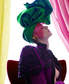visual optimism; fashion editorials, shows, campaigns & more!: schiaparelli couture by christian lacroix: farah holt by baldovino barani for...