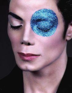 Michael Jackson photo shoot, love the accent eye