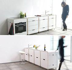 Lovely modular mini kitchen islands