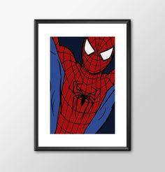 SPIDERMAN - Classic Superhero Digitally Painted Tribute by ShamanAlternative on Etsy