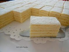 Cake Recipes, Dessert Recipes, Desserts, Kolaci I Torte, Croatian Recipes, Tray Bakes, Vanilla Cake, Cooking Recipes, Cheese