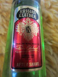 Vintage Russian Leather Splash After Shave 4.0 Oz. By PRINCE OBOLENSKI 80% full kitschy perfume