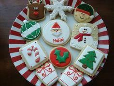 12 Dozen Days of Christmas {Part Cute Christmas Cookies, Christmas Sweets, Cute Cookies, Christmas Goodies, Holiday Cookies, Holiday Treats, Christmas Baking, Christmas Holidays, Christmas Meals