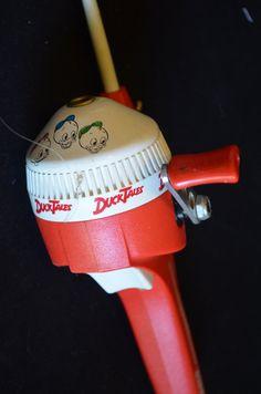 Vintage disneyland donald duck hat w hard bill baseball for Fisher price fishing pole