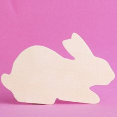 Unfinished Wood Rabbit Cutout