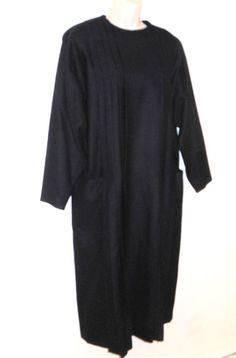 609d0afb1df Gerard Darel Paris 100% Wool Dress 40 8 10 Lagenlook Pleated Blue FRANCE  Loose