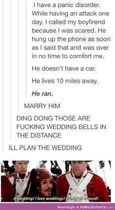 I hear wedding bells!