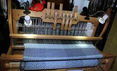 """Ashford Table Loom 80cm  - hier von mir """"angewebt"""" (ES800N)"""