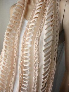 shredded braided jersey scarf  tshirt by JohnnyVegasOriginals, $27.00