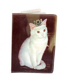 170d99dc59 Royal White Kitty Passport Holder - CT1199KQLGV