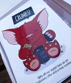 Gremlin Illustration & Post Card Design for Social You   Stina Jones