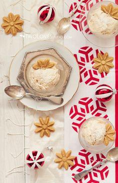 ... christmas ice cream: vanilla and cinnamon ice cream with snowflake gingerbread cookie dough ...