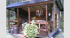 IDEA 2011 -kilpailun voittaja: Huvimaja vanhoista hirsistä Cabin, House Styles, Places, Garden, Outdoor Decor, Dreams, Home Decor, Google, Garten