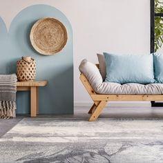 Intr-un decor cu stil, ai nevoie de un covor pe masura! Iti propunem unul modern din colectia magic.  #covormagic #covormodern #covoare #covordelana #startdecor Outdoor Sofa, Outdoor Furniture, Outdoor Decor, Vinyl, Entryway Bench, Couch, Modern, Instagram, Design