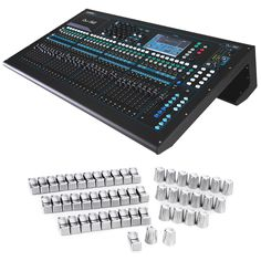 Allen & Heath With its responsive touchscreen, 33 motor faders and acclaimed AnalogiQ recallable preamps, the combines exceptional ease of use with class-leading audio performance. Drawing on the technologies Allen And Heath, Audio Sound, Video Lighting, Sound Effects, Compass, Mixer, Guitars, Studios, Weaving