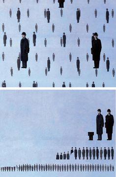 "Ursus Wehrli, Tidying Up Art. René Magritte ""Golconda"" http://www.demilked.com/tidying-up-art-ursus-wehrli/"