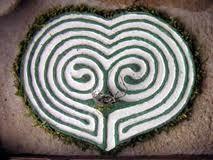 Variants of the Cretan Labyrinth Labyrinth Garden, Labyrinth Maze, Land Art, Linolium, Ancient Symbols, Celtic Symbols, Celtic Knots, Crop Circles, Garden Design