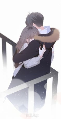 CLICK IF YOU LOVE ANIME ------------- Anime Couple - I wish I could always give you a hug… I wish that whenever there's something good or bad happening, we'll stay strong and always be there for each other. Anime Couples Hugging, Anime Couples Drawings, Anime Couples Manga, Anime Boys, Anime Couples Sleeping, Cartoon Drawings, Kawaii Anime, Anime Cupples, Cute Couple Art