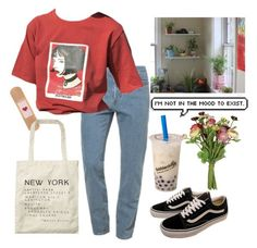 """""""47"""" by ourijimin ❤ liked on Polyvore featuring American Apparel, Vans, Scotch & Soda and OKA"""