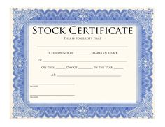 stock certificate templates to print activity shelter