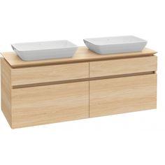 Villeroy & Boch Waschtischunterschrank Legato B24100 1600x550x500 Ulme Impresso - Waschtischunterschränke - Badmöbel - Bad - b-cube - Ihr Premiumbad