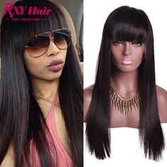 Brazilian Straight Lace Front Wig Glueless Full Lace Wigs With Bangs Full Lace Front Wigs Human Hair Lace Front Wigs Black Women