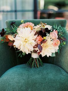 During 2015, we're going to see a fair share of jewel toned weddings. | See more wedding bouquet trends to try here: http://www.mywedding.com/articles/wedding-bouquet-trends-to-try/