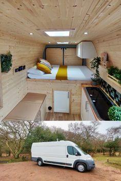Van Conversion Designs, Van Conversion Interior, Camper Van Conversion Diy, Diy Van Conversions, Campervan Hire, Campervan Interior, Converted Vans, Build A Camper Van, Kombi Home