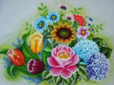 Pintura Em Tecido - Venha Aprender Pintura em Tecido: Galeria Flores