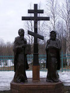 Споменик Ћирилу и Методију, Апатити, (Мурманска област, Русија)
