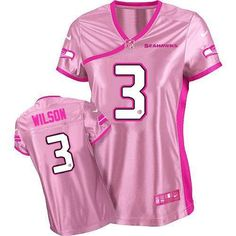 Nike Seahawks #3 Russell Wilson Pink Women's Be Luv'd Stitched NFL Elite Jersey