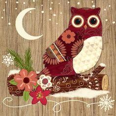 Alpine Holiday-Owl by Jennifer Brinley