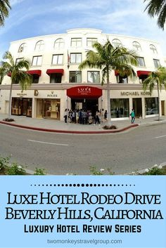"""Luxury Hotel Review: Luxe Hotel Rodeo Drive, Beverly Hills  While today Beverly Hills is synonymous with fame, fortune and exclusivity it retains its small town feeling, something that Luxe Beverly Hills emulates perfectly welcoming both celebrities and tourists alike. They describe their style as a combination of """"classic warmth with minimal chic"""" and being the only hotel on Rodeo Drive they have struck this balance with perfection."""